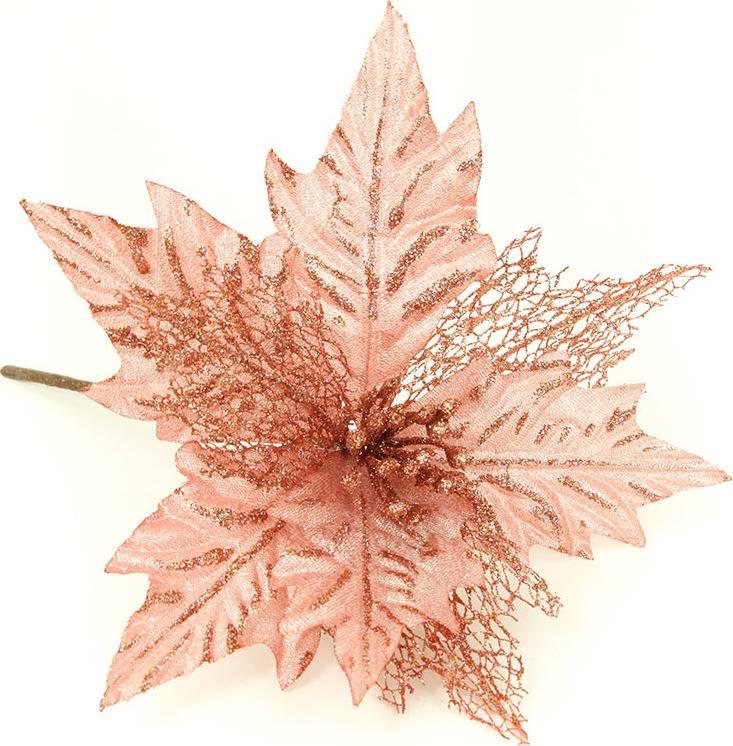 Květina umělá vazbová vánoční  s glitry VK-1239 Art