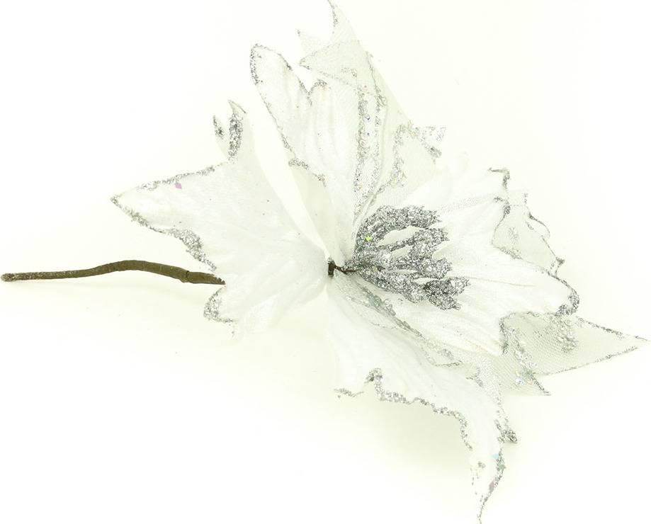 Květina umělá vazbová vánoční s glitry VK-1245 Art