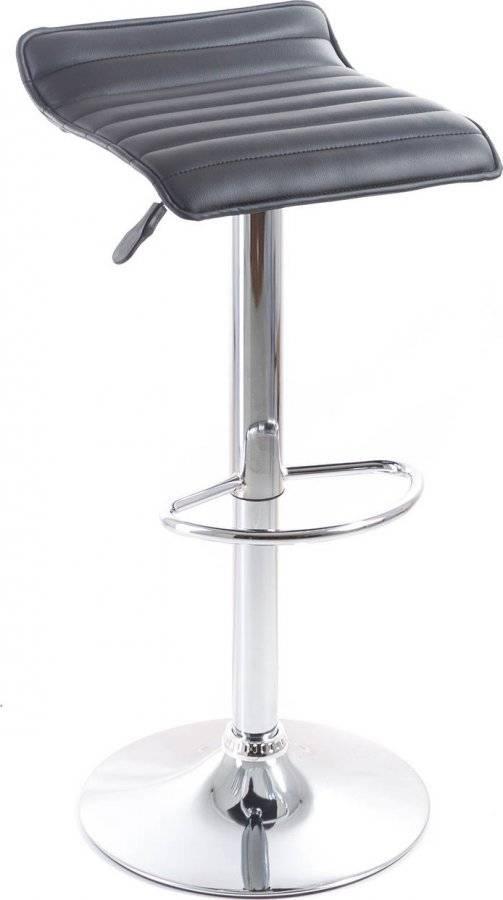 Barová židle Fatea koženková, prošívaná black 60023090 G21