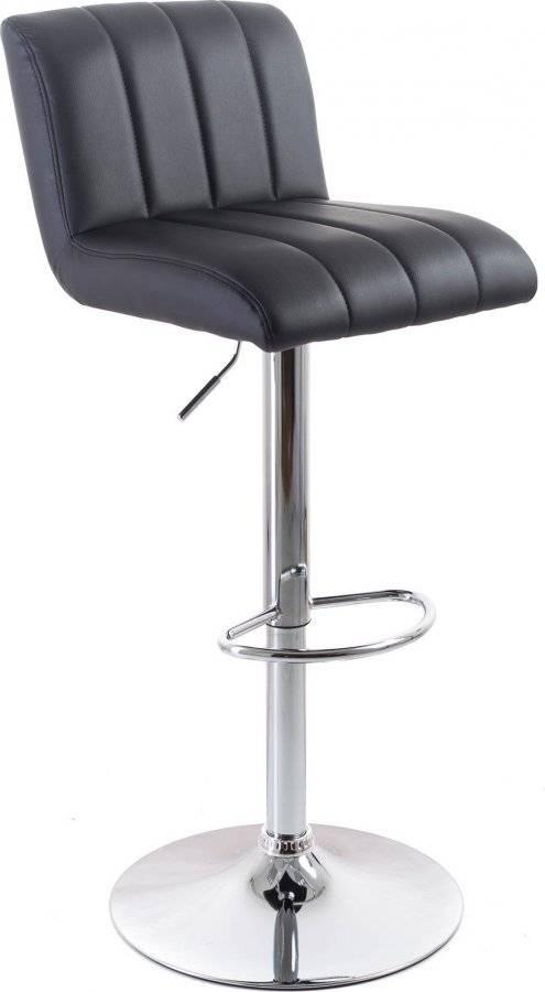 Barová židle Malea koženková, prošívaná black 60023096 G21