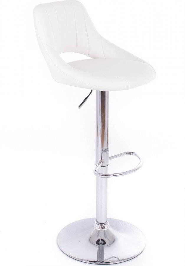 Barová židle Aletra koženková white 60023186 G21