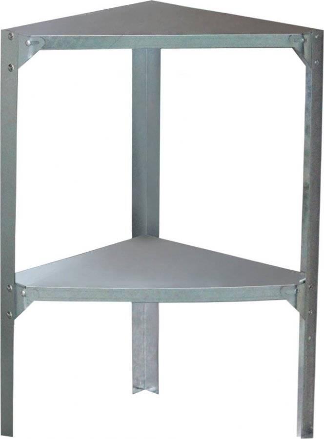 Regál 42 x 42 cm rohový, pro zahradní domky a skleníky 63900482 G21