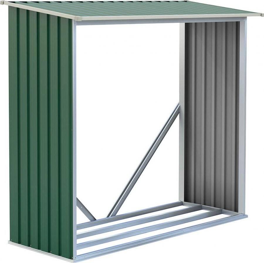 Přístřešek na dřevo WOH 136 - 182 x 75 cm, zelený 63900491 G21