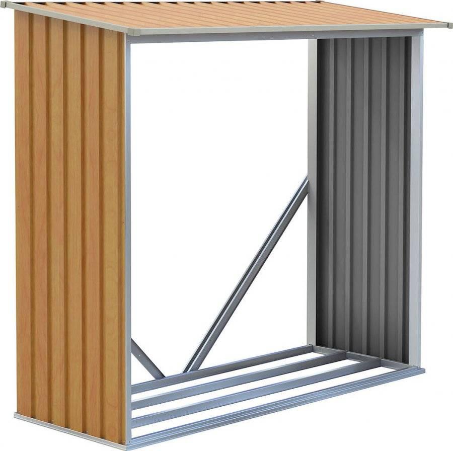 Přístřešek na dřevo WOH 136 - 182 x 75 cm, hnědý 63900495 G21