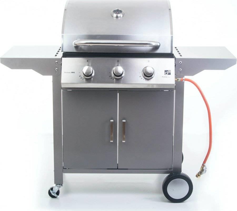 Plynový gril Oklahoma BBQ Premium Line 3 hořáky + zdarma redukční ventil 6390310 G21