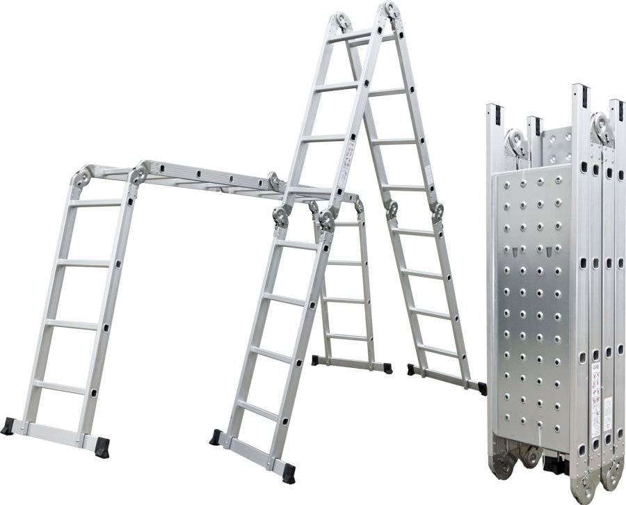 Hliníkové štafle GA-SZ-4x4-4,6M multifunkční + podlážka 6390463 G21