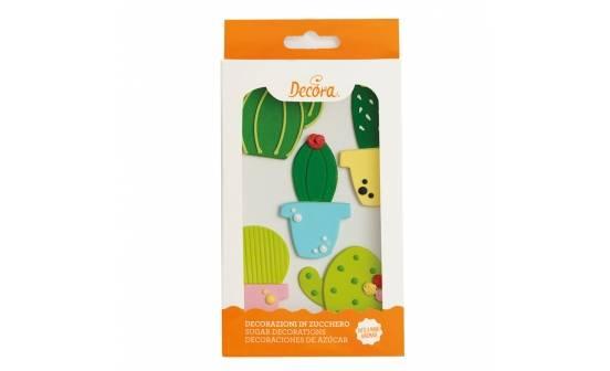 Cukrová dekorace na dort kaktusy - Decora