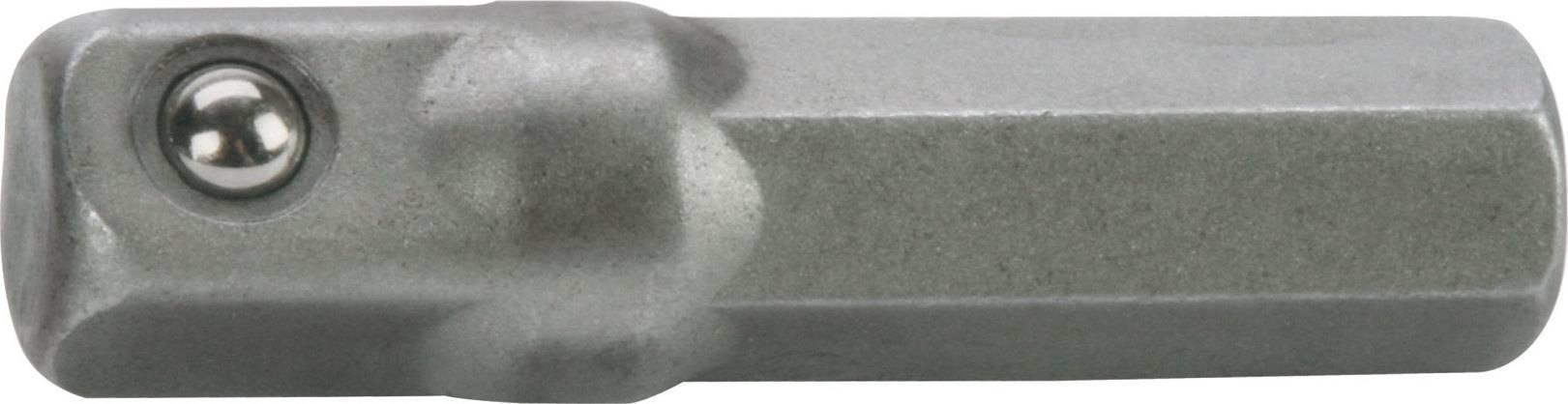 """adaptér z hrotu 1/4"""" na čtyřhran 1/4"""", L 26mm 4701914 FORTUM"""