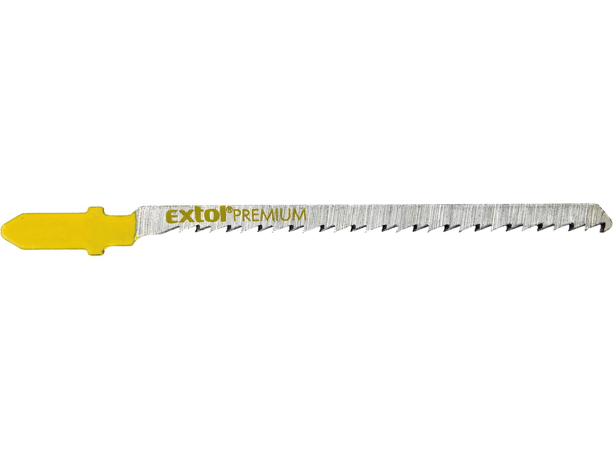 plátky do přímočaré pily 5ks, 75x2,5mm, HCS 8805003 EXTOL PREMIUM