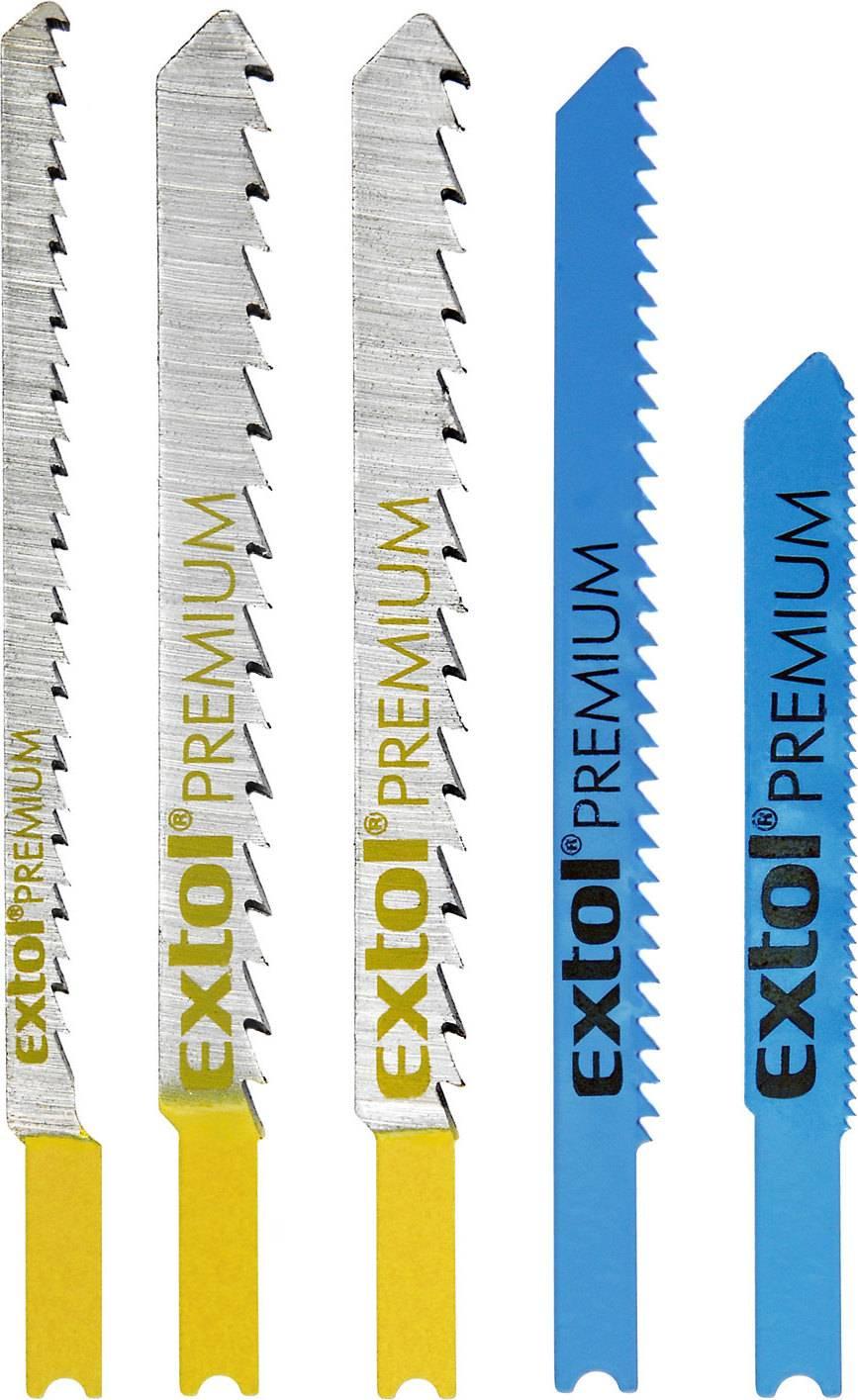 plátky do přímočaré pily-mix, sada 5ks, Bi-metal, HSS, HCS 8805600 EXTOL PREMIUM