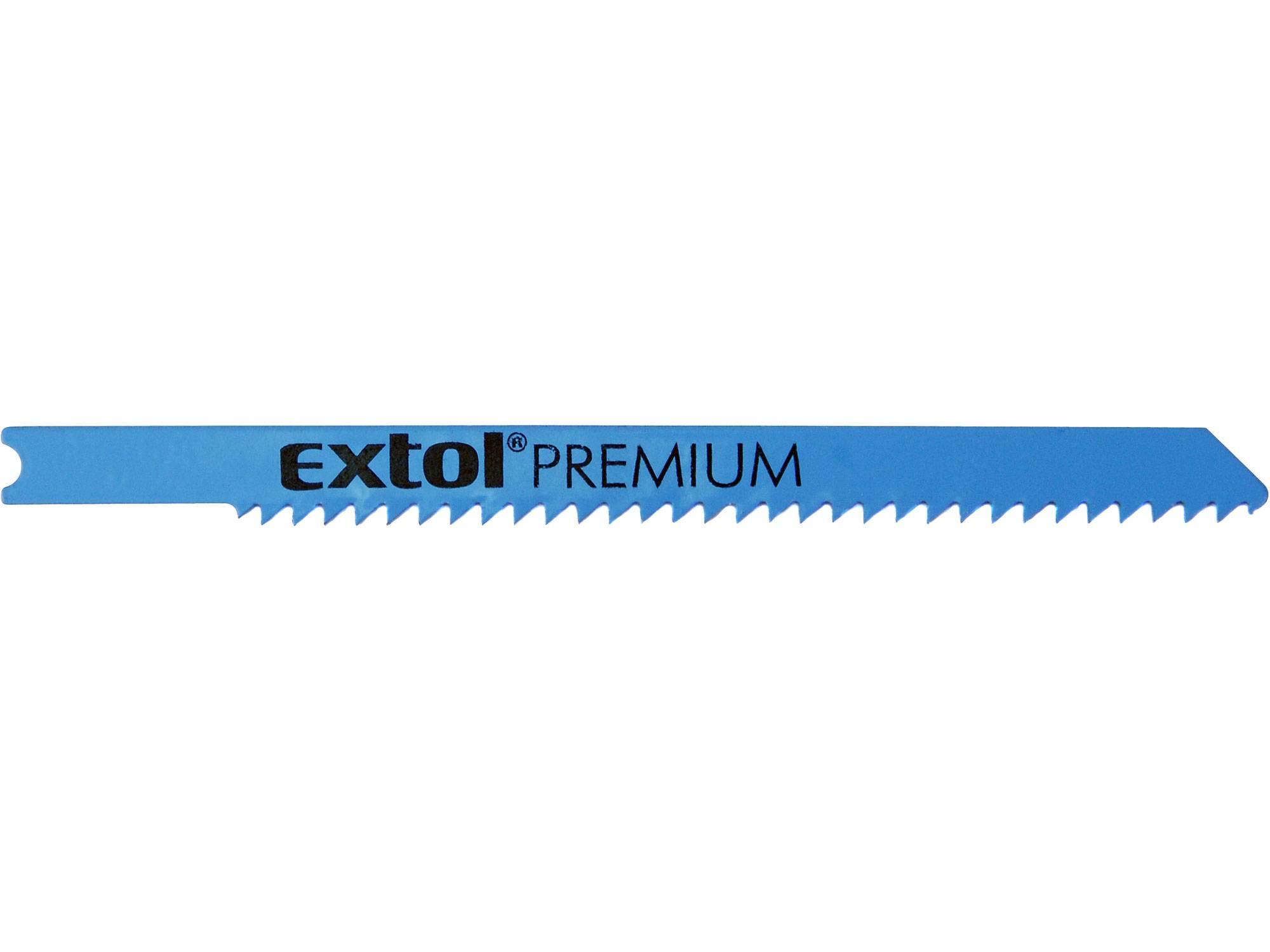 plátky do přímočaré pily 5ks, 75x2,5mm, Bi-metal 8805703 EXTOL PREMIUM
