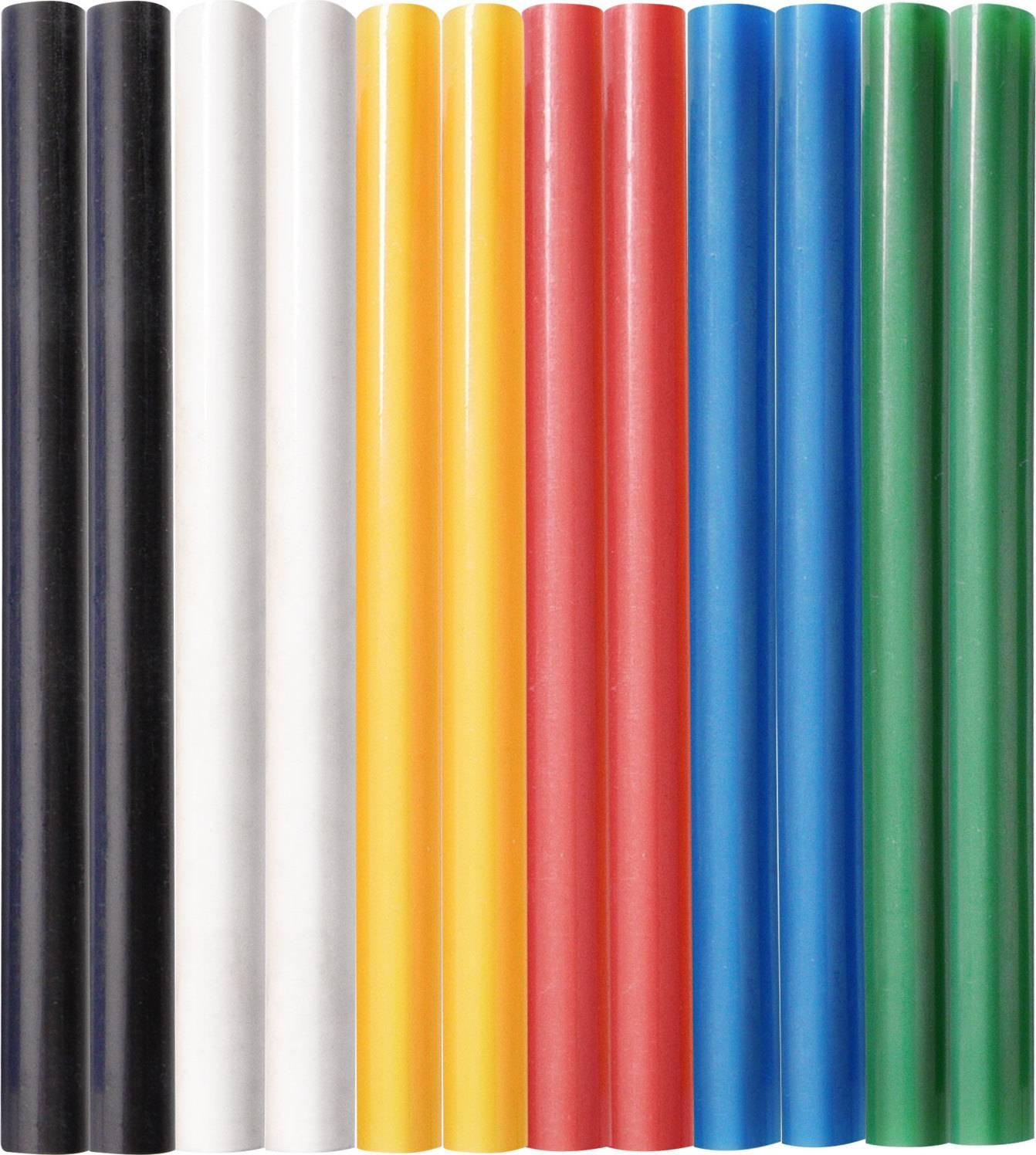 tyčinky tavné, mix barev, pr.7,2x100mm, 12ks 9908 EXTOL CRAFT