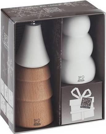 Fotografie SNÖ set mlýnek na pepř a sůl 14cm/9 cm přírodní+bílý 29449 Peugeot