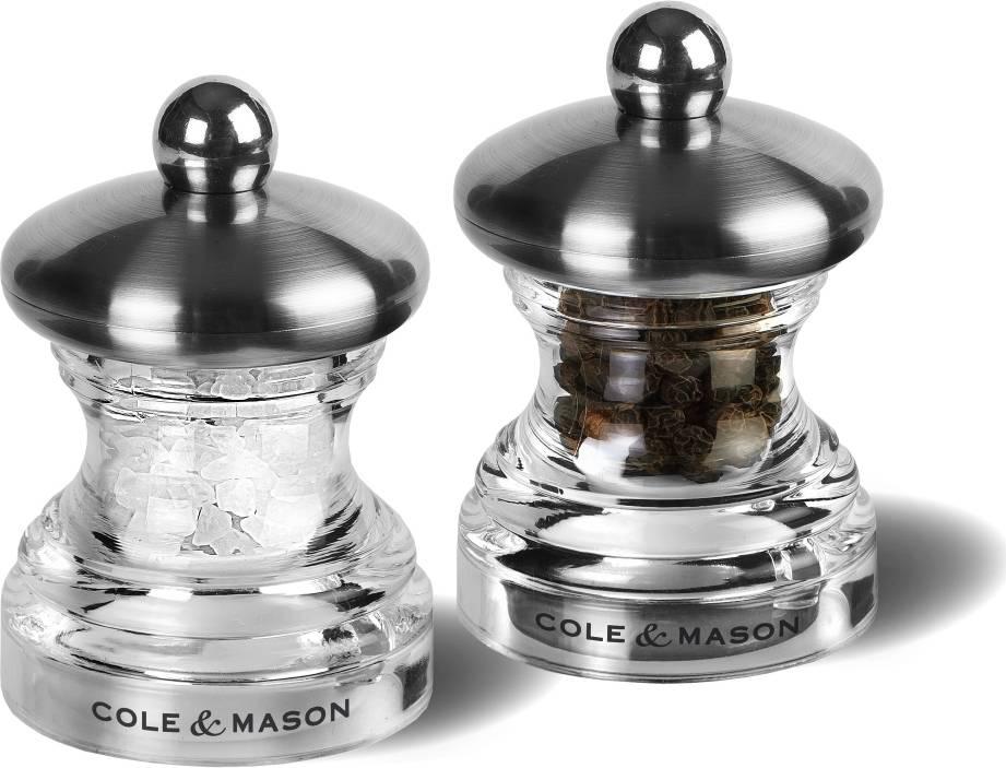 Cole & Mason BUTTON dárková sada, mlýnek na pepř a sůl, 65mm H302418 DKB Household UK Limited