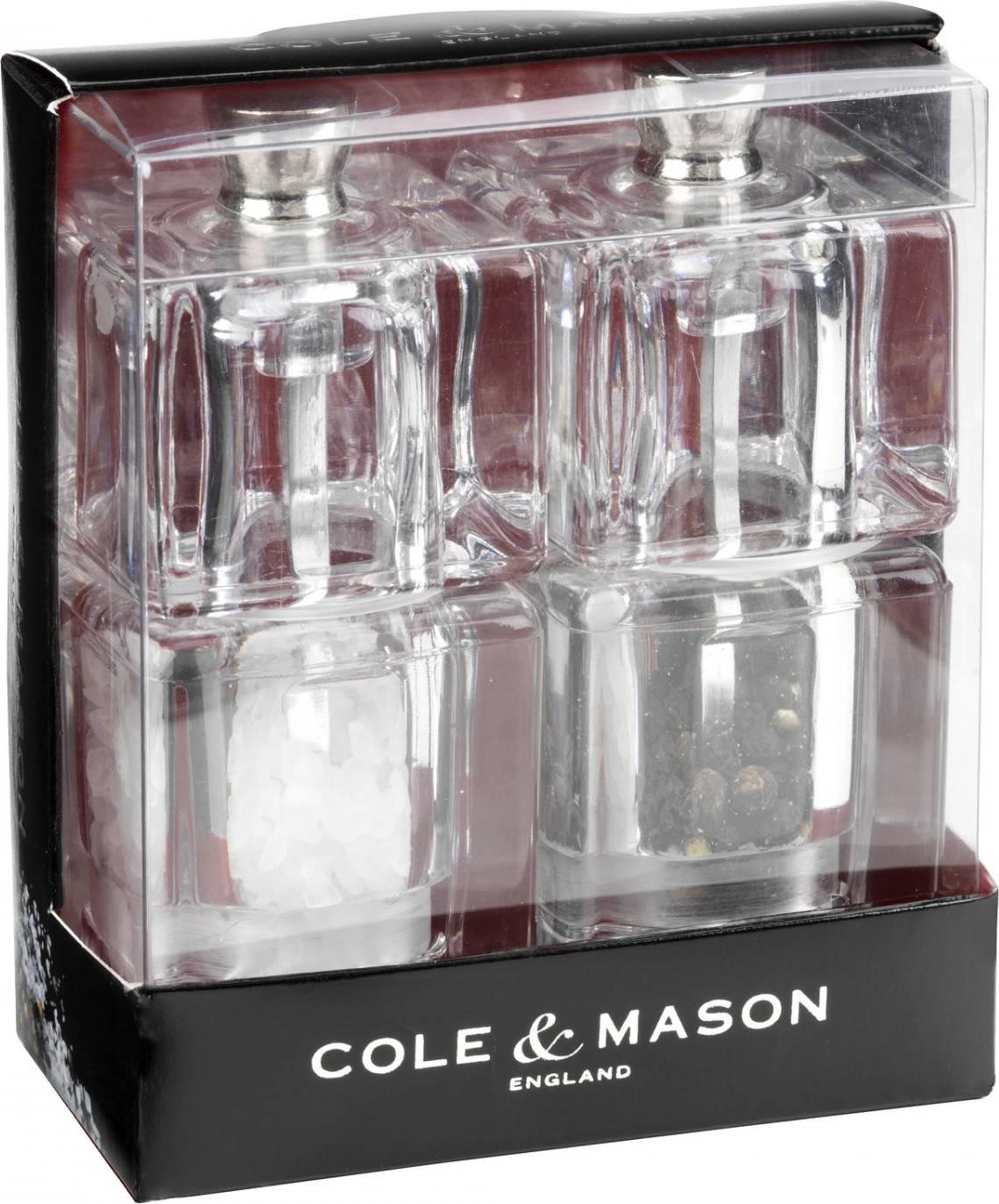 Cole & Mason MINI CUBE dárková sada, mlýnek na pepř a sůl, 90 mm H305418 DKB Household UK Limited