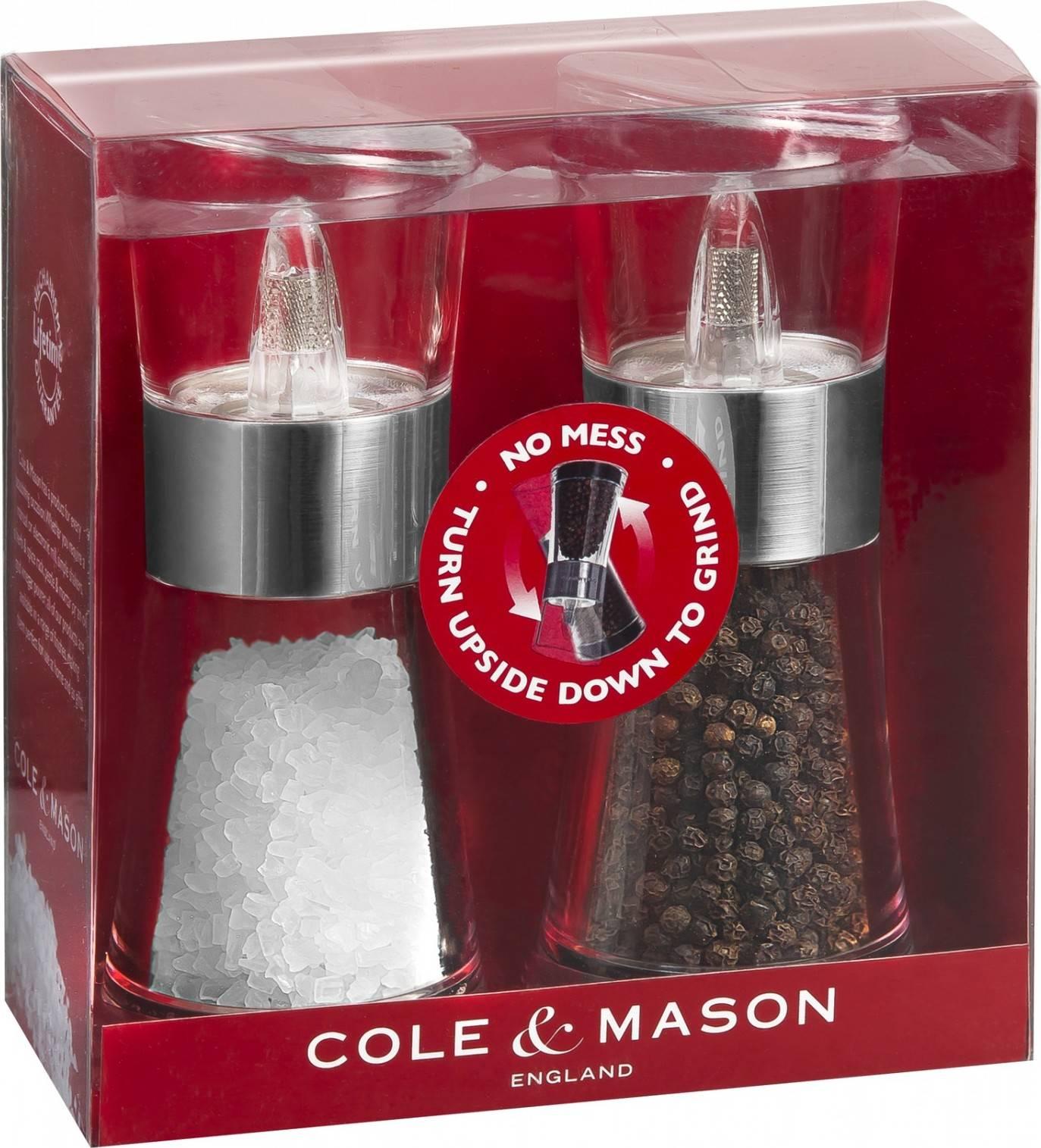 Cole & Mason FLIP CHROME dárková sada, mlýnek na pepř a sůl 154mm H581780 DKB Household UK Limited