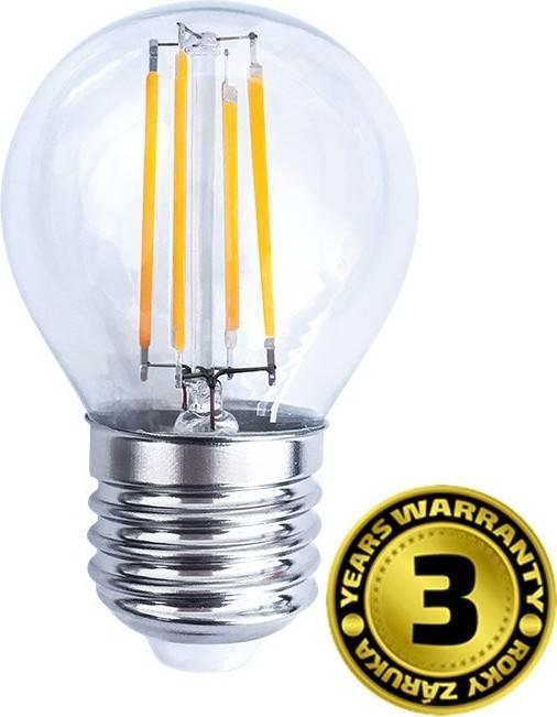 LED žárovka retro, miniglobe, 4W, E27, 3000K, 360°, 440lm WZ426 Solight
