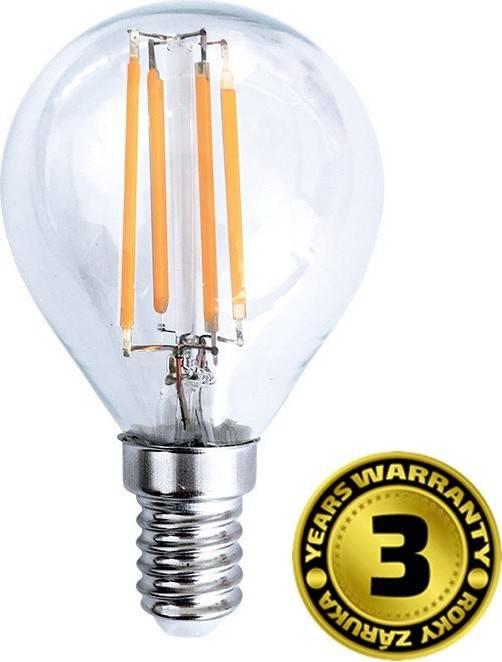 LED žárovka retro, miniglobe, 4W, E14, 3000K, 360°, 440lm WZ427 Solight