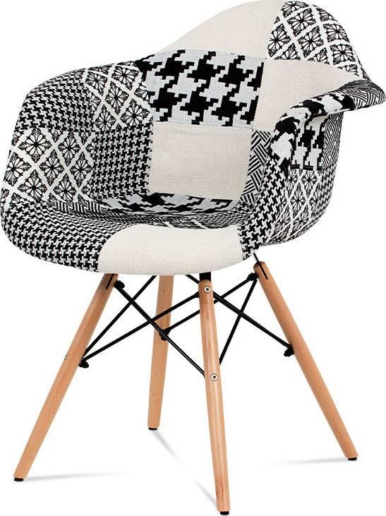 Jídelní židle, patchwork / masiv buk CT-756 PW2 Art