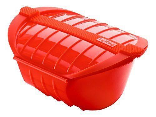 Silikonová nádoba červená na vaření do mikrovlnky