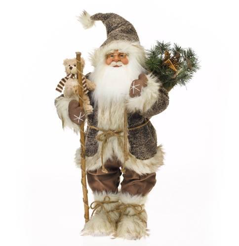 Santa Claus svítící s medvídkem 62cm 1ks - IntArt