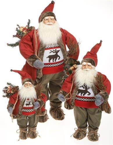Santa Claus svítící 65cm 1ks - IntArt