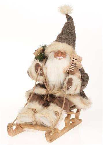 Santa Claus svítící na saních 48x28x52cm - IntArt