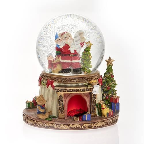 Vánoční sněžítko 17x19cm hrající a svítící - IntArt