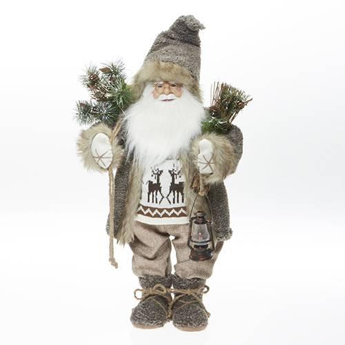Santa Claus svítící s větvičkou 62cm - IntArt
