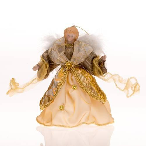 Zlatý anděl k zavěšení 19cm - IntArt