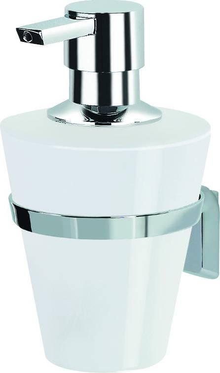 Dávkovač mýdla s držákem MAX-LIGHT porcelán/chrom 1011893 SPIRELLA