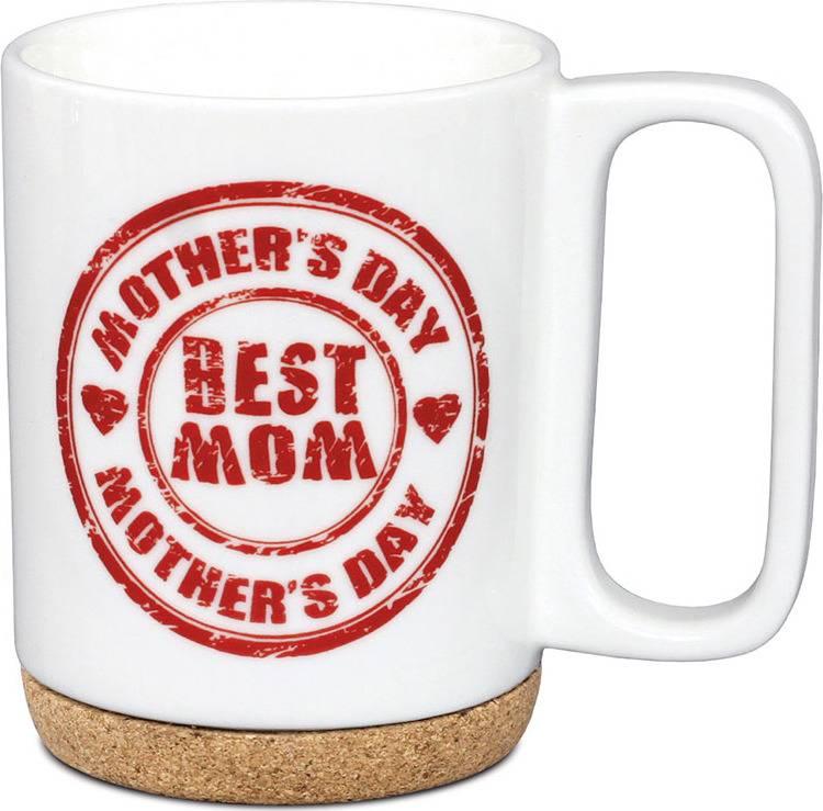 Artium Hrnek porcelánový Best Mom s korkem 280 ml