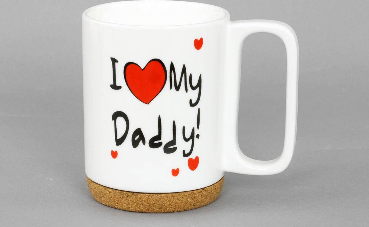 Artium Hrnek porcelánový I Love Daddy s korkem 280 ml