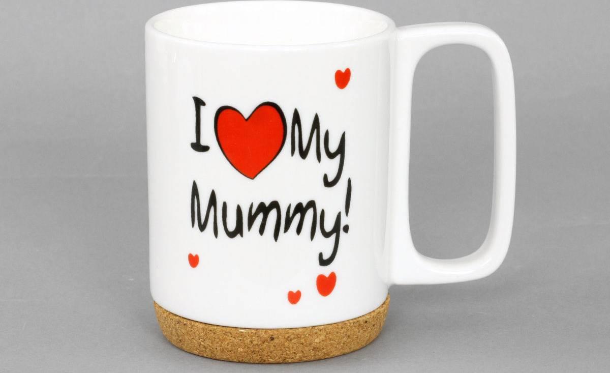 Artium Hrnek porcelánový I Love Mummy s korkem 280 ml