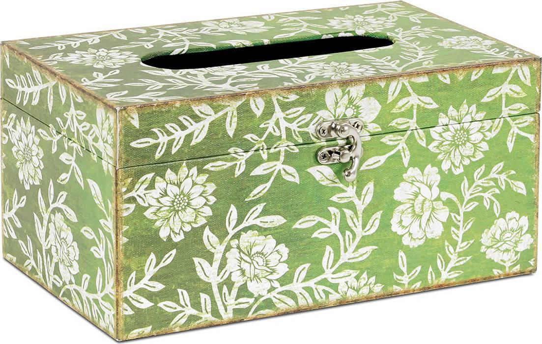 Krabička na papírové kapesníky dřevěná potažená plátnem s potiskem FK3007 Art