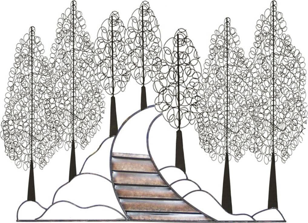 Strom kovový nástěnný HY-MTY02 Art