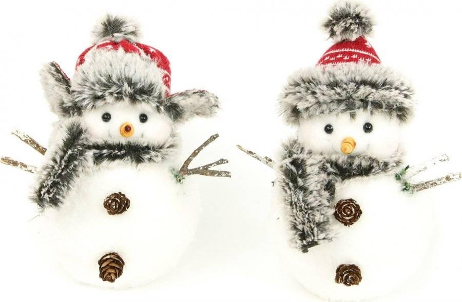 Sněhulák s plyšem, vánoční dekorace, mix 2 druhů, cena za 1 kus AC4012 Art