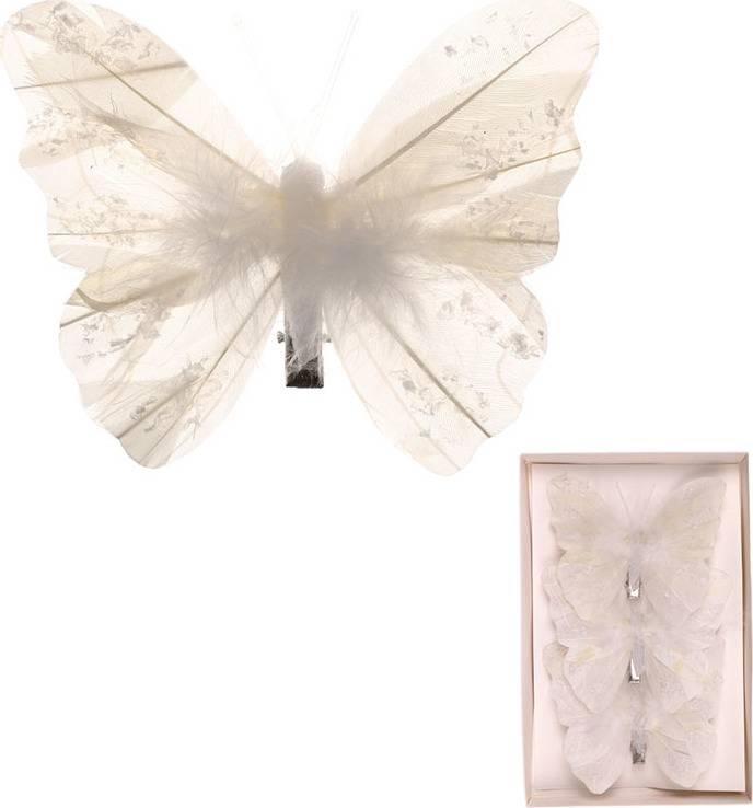 Motýl s klipem, cena za  3 kusy v krabičce MO3442 Art