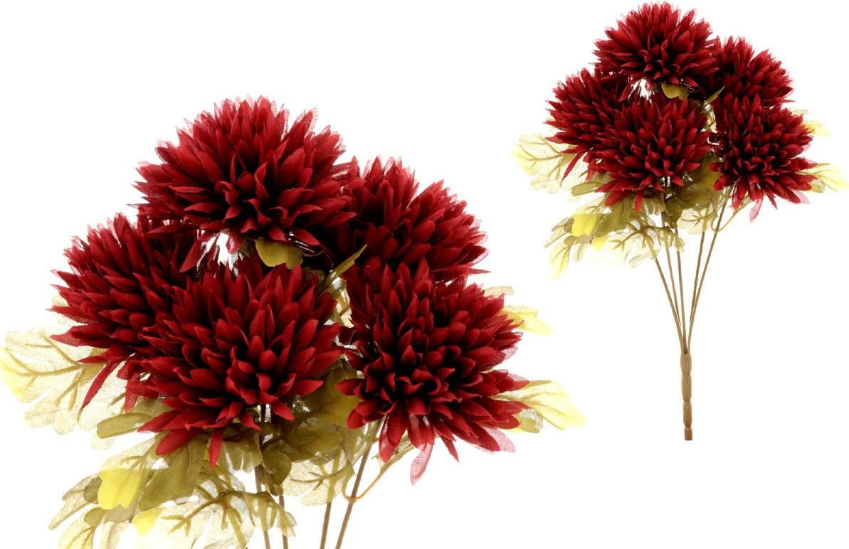Chryzantéma puget,5-hlavá, bordó. NL0102-RED Art