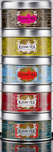 Afternoon Teas Vzorkovník čajů balení PVC BOX plechovka 5 x 25g APRES525R Kusmi tea