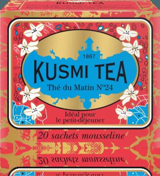 Fotografie Russian Morning n° 24 20 mušelínových sáčků 44g MATI20S Kusmi tea