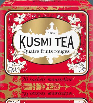 Černý s červeným ovocem 20 mušelínových sáčků 44g ROUG20S Kusmi tea
