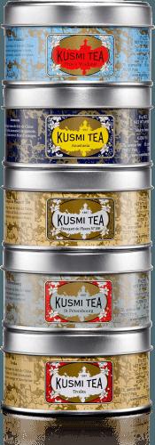 Russian Teas Vzorkovník čajů balení PVC BOX plechovka 5 x 25g RUSS525R Kusmi tea