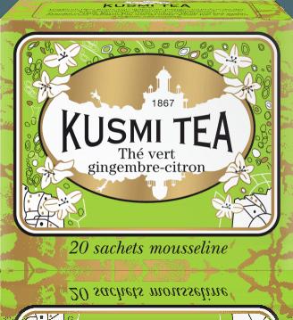 Ginger-Lemon green tea 20 mušelínových sáčků 44g VGIC20S Kusmi tea