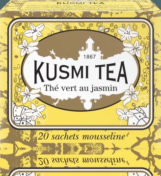 Jasmine green tea 20 mušelínových sáčků 44g VJAS20S Kusmi tea