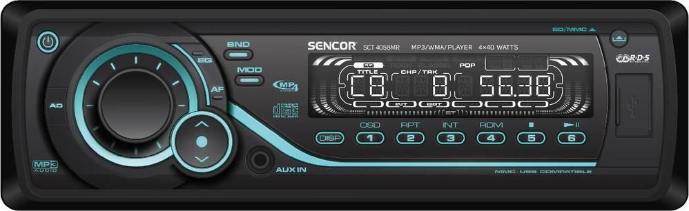SCT 4058MR AUTORÁDIO S USB/SD/RDS 35042827 SENCOR