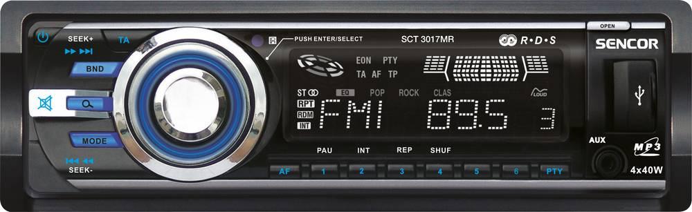 SCT 3017MR AUTORÁDIO S USB/SD/RDS 35047747 SENCOR
