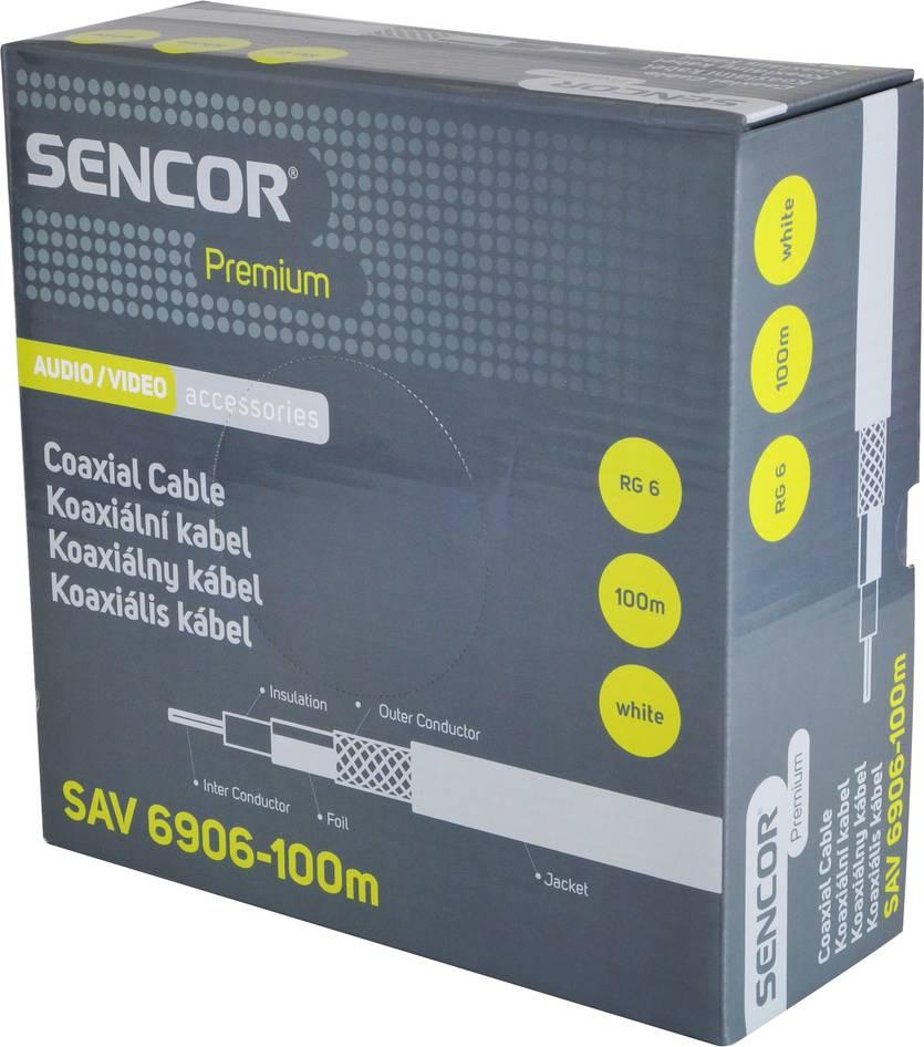 SAV 6906-100m Koax. kabel RG-6 35043253 SENCOR