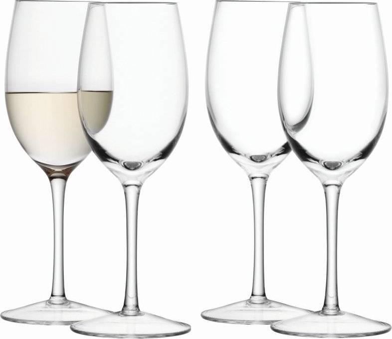 Wine skleničky na bílé víno 260ml, čiré set 4ks, LSA, Handmade G1152-09-301 LSA International
