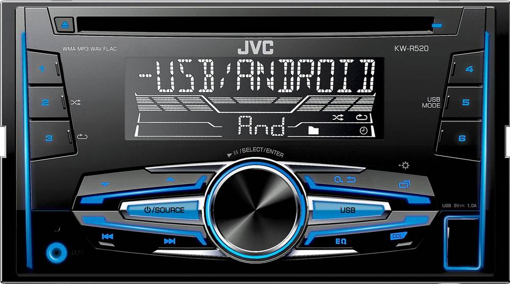 KW R520 2DIN AUTORÁDIO S CD 35048299 JVC